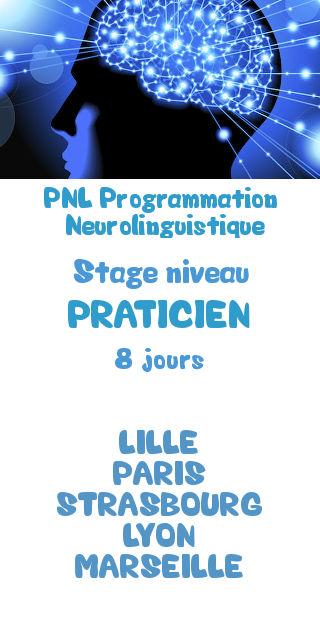 Formation certifiante niveau praticien pnl programmation neurolinguistique lille paris strasbourg lyon marseille