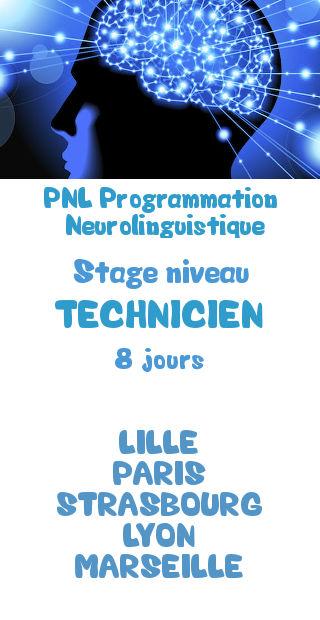 Formation certifiante niveau technicien pnl programmation neurolinguistique lille paris strasbourg lyon marseille