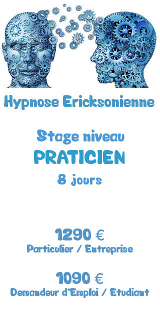 Tarifs de la formation hypnose Ericksonienne niveau Praticien