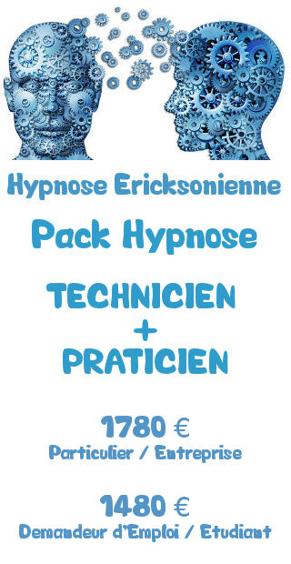 Tarifs de la formation Pack hypnose Ericksonienne