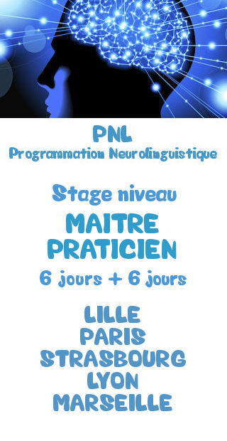 Formation certifiante niveau Maitre Praticien PNL Programmation Neurolinguistique Lille Paris Strasbourg Lyon Marseille