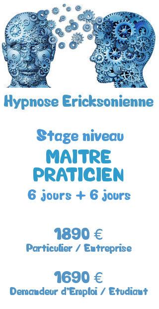 Tarifs de la formation Maitre Praticien Hypnose Ericksonienne