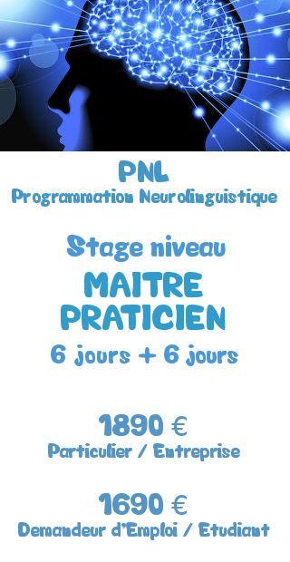Tarifs de la formation Maitre Praticien PNL Programmation Neurolinguistique